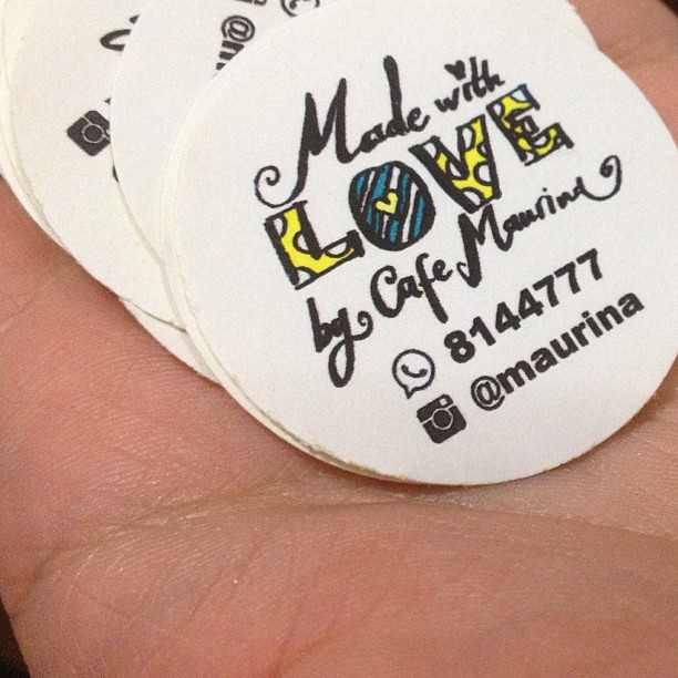 New and improved stickers for #cafemaurina #handmadebymaur ...