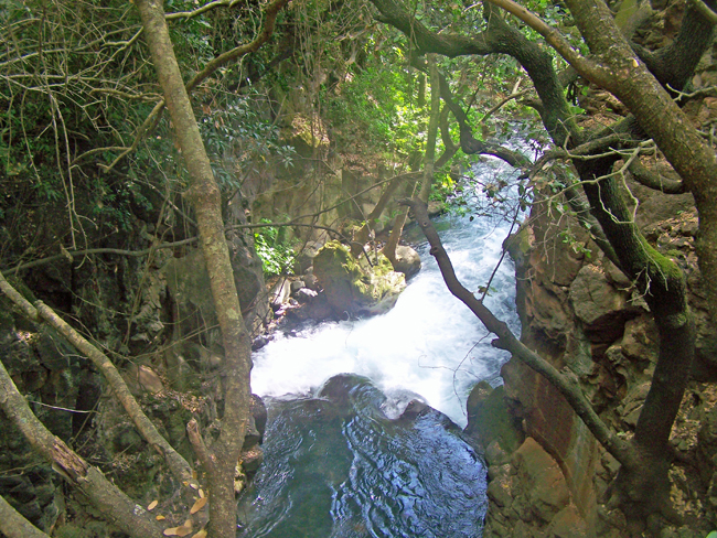 Banias waterfalls in Golan Heights