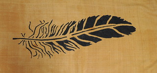 007 - Stenciled Feather