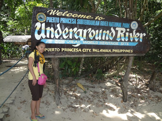 Underground River signage