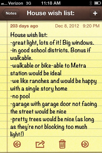 House wish list