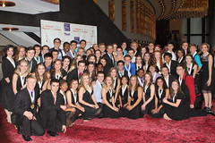 2013 NHSMTA Nominees with NHSMTA Choreographer Kiesha Lalama, President and Director Van Kaplan and Executive Director Susan Lee