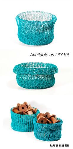knitted basket kit