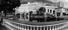 The Bellagio Hotel - Las Vegas, NV B&W panorama