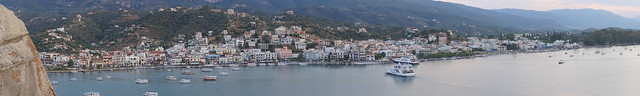 View of the mainland from the Poros clocktower