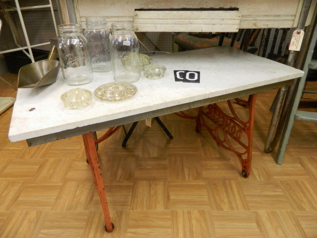 vintage metal table
