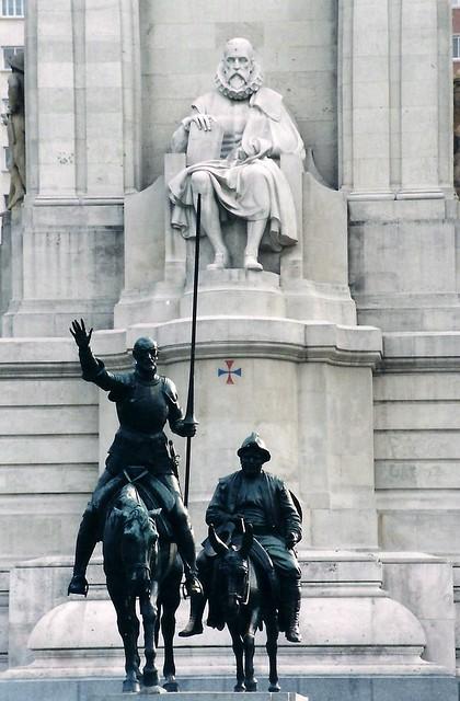 Don Quijote, Sancho Panza & Miguel de Cervantes