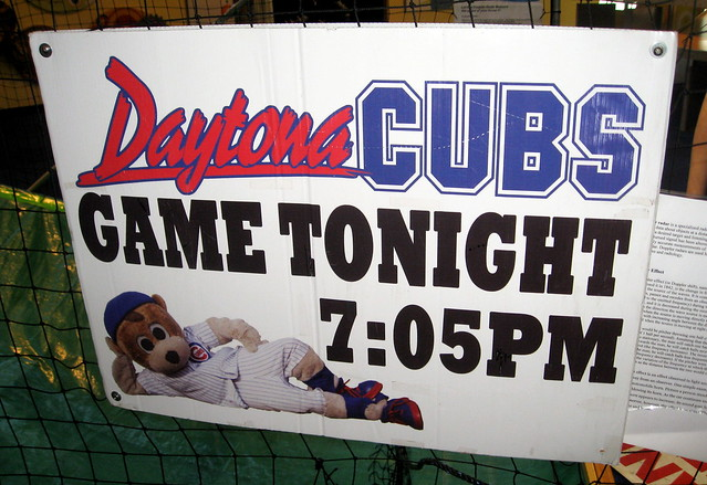 Daytona Beach - Museum of Arts and Sciences - Daytona Cubs Sign from Flickr via Wylio