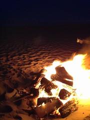 Bonfire at the beach