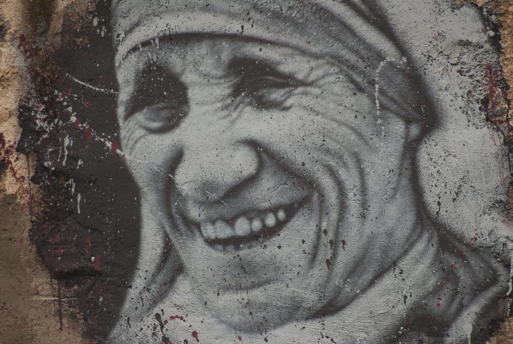 Mère Thérèse, painted portrait DDC_8537_1