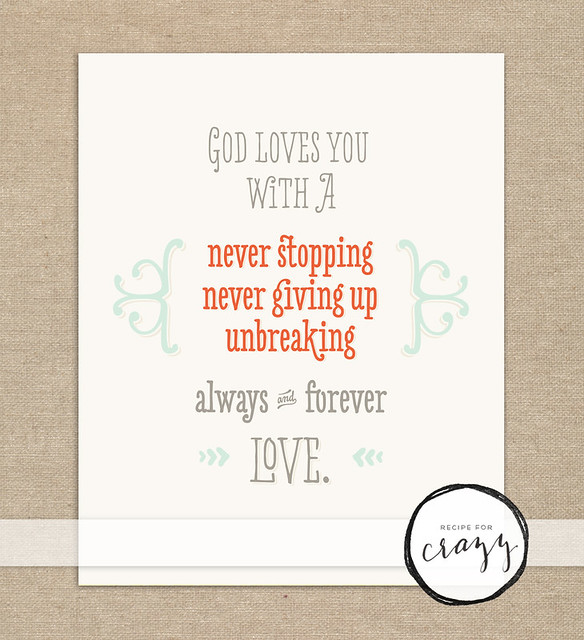 God love you with... - art print
