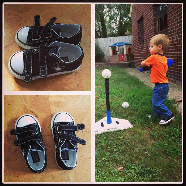 The dude is now rocking chucks. His coolness is complete.  #chucks #thedude