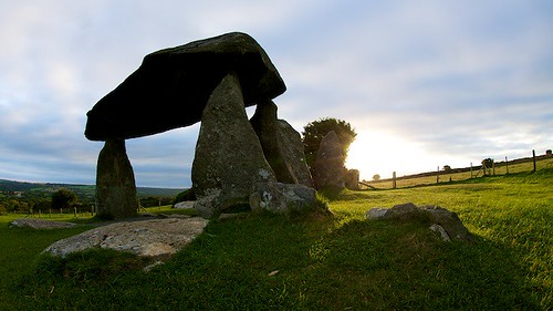 Sunrise at Pentre Ifan Burial Chamber by TheUnseenScene (previously AnnerleyIRMacro)