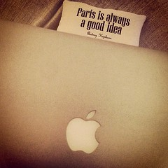 #paris #pillow #macbook #apple #lifeatcloudie #gadgetflow #gadgets
