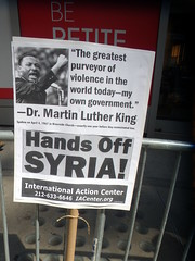 Times Square Convergence against The War on Syria