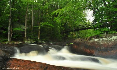 bridge water waterfall algonquin arrowhead flowingwater campinggrounds nikond3000 stubbsfall