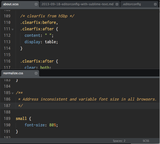 editorconfig for sublime text
