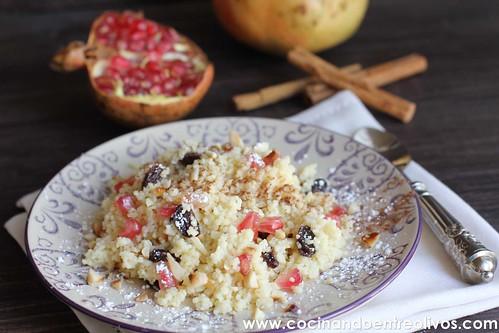 Couscous dulce con pasas y granada (2)