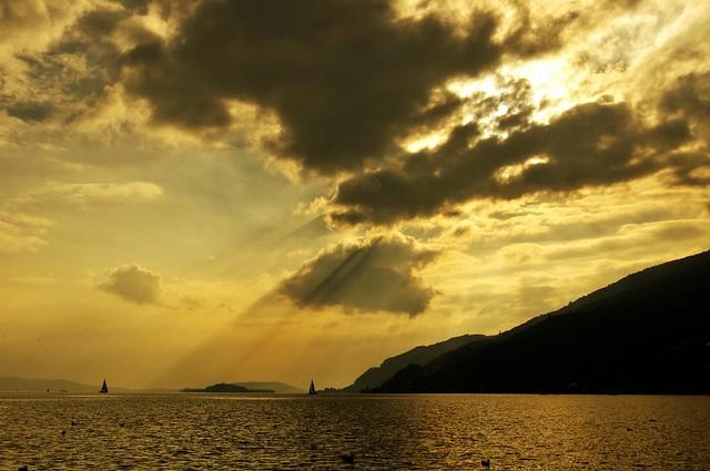 Lac de Bienne,ambiance automnale