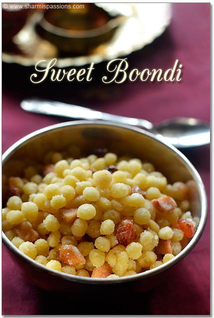 Sweet Boondi Recipe