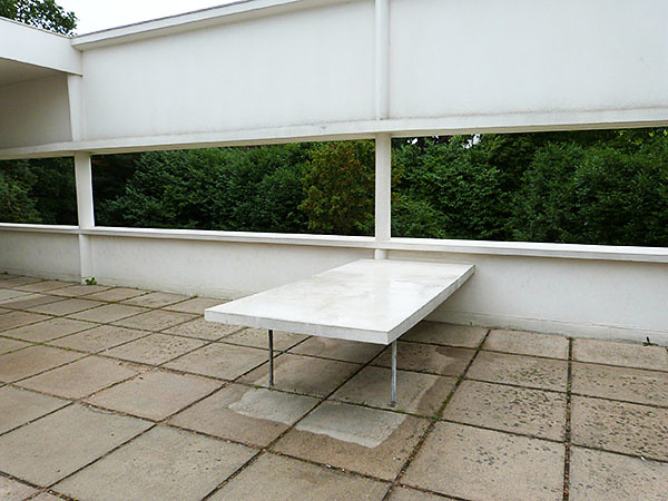table de la terrasse