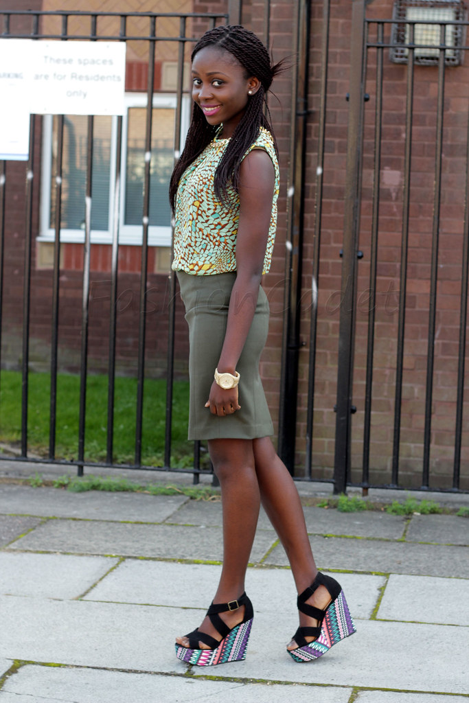 military inspired trend, wedges; new look wedges, new look Aztec print wedges