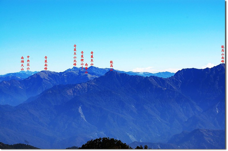 三叉峰環景(From 三叉峰營地,北至東) 12