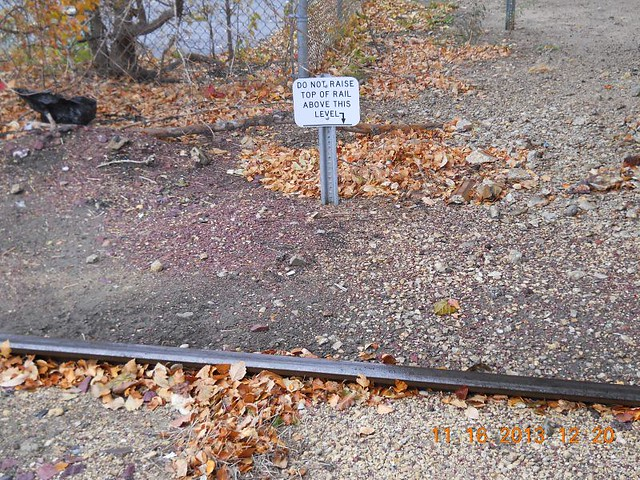 Strange railroad sign