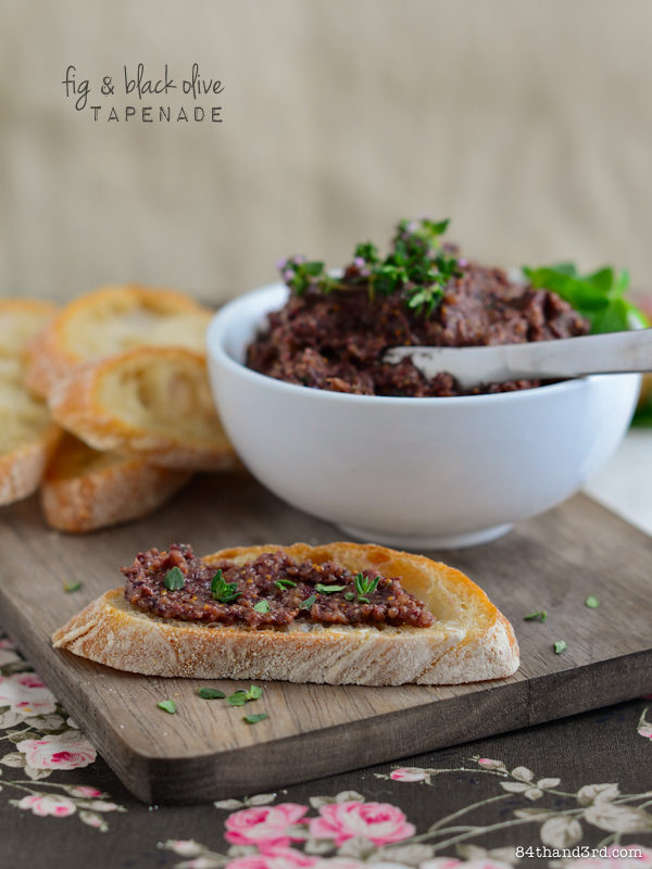 Fig and Black Olive Tapenade