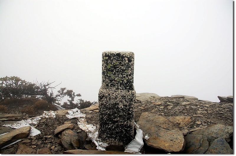 東郡大山一等三角點(Elev. 3619 m)