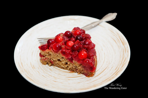 Upside down cranberry cake
