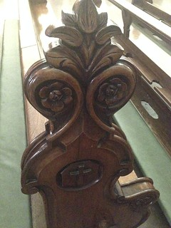 Hand-carved pew