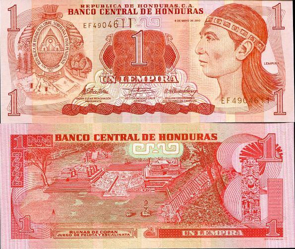 1 Lempira Honduras 2010