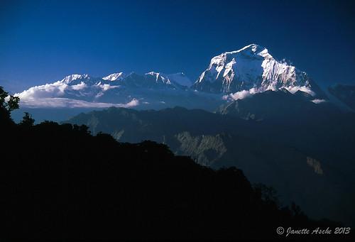 travel nepal mountains film trekking asia hiking 1988 slide fujifilm pokhara himalayas scannedslide poonhill ghorepani 35mmslidefilm kaski westernregion ghodepani dhaulagirii