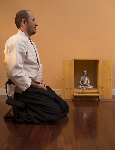 Meditanción con banco de meditación