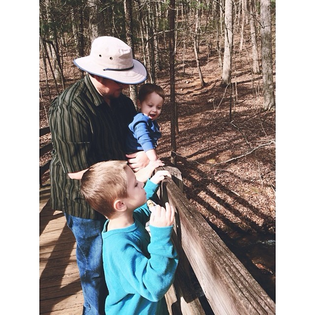 Checking out the #creek! #pictapgo_app #amicalolafalls #hiking #familyvacation
