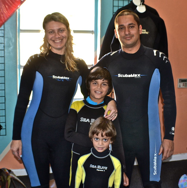 Manatee Snorkeling, Crystal River, Florida - family portrait