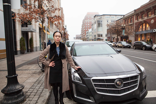 Me with my Cadillac CTS parked at Back Bay neighborhood in Boston, MA
