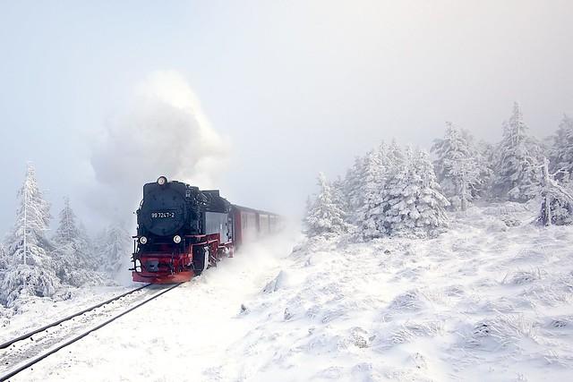 GeraldGrote - Dampflok im Schnee