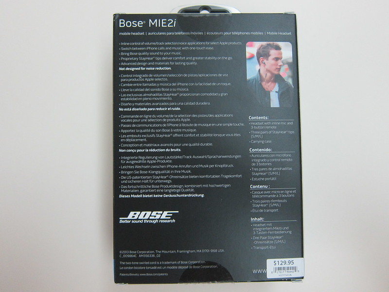 Bose MIE2i - Box Back