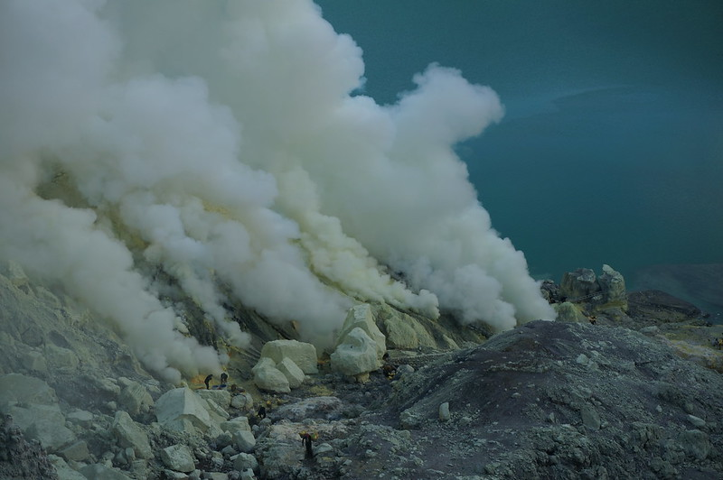 Inside the Ijen crater