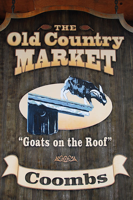 Old Country Market in Coombs, Vancouver Island, British Columbia, Canada