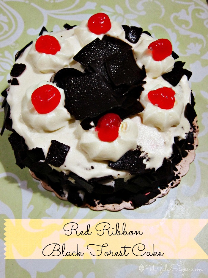 Red Ribbon Black Forest Cake A Trip Down Memory Lane Wifely Steps