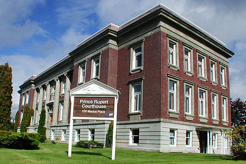 Prince Rupert Courthouse, Prince Rupert, West Coast of Northern British Columbia, Canada
