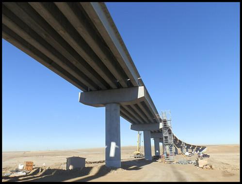 Photo taken underneath Peña Boulevard Bridge