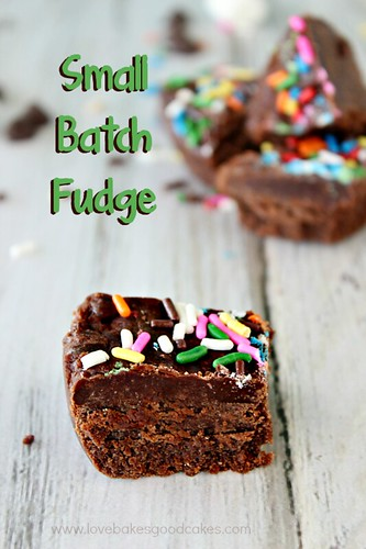 Small Batch Fudge #chocolate #microwave #easy #quick