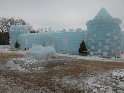 Saranac Lake ice palace (what's left of it) by woodsrun