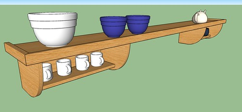 Kitchen Shelf Unit: The Plan