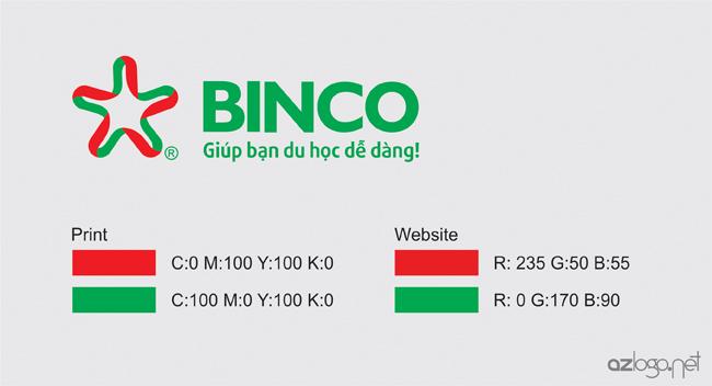 Màu sắc thương hiệu của tư vấn du học BINCO