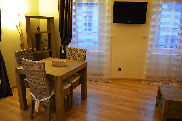 Lounge area, Hotel Les Arcades, Limoux, France